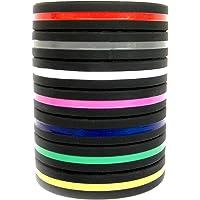 Solza Siliconen armbanden (set van 7) unisex perfect voor fitnesstraining, crossfit, voetbal, basketbal en sporttraining…