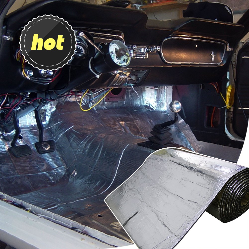 13 SqFT 394mil Car Sound Insulation mat,Heat Shield Thermal, Sound Deadener Heat Proof Water Proof Noise Insulation by LINGDA