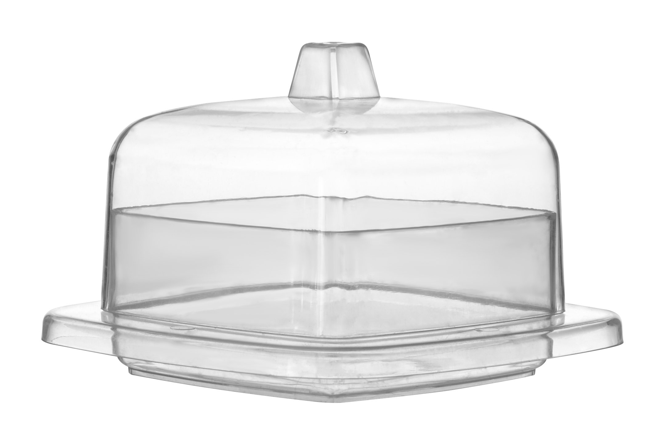 Tiny Temptations Fineline 6701 Square Tiny Dome with Lid, 3.25'' Diameter/1.75'' Height, Clear, 10/12/120 Case