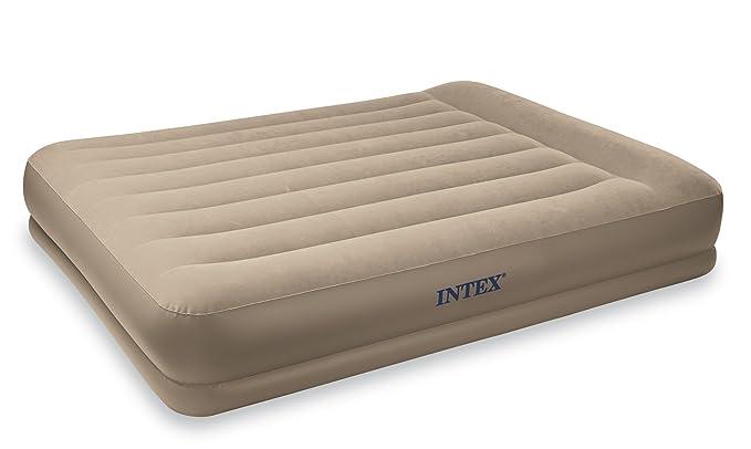 Amazon.com: Intex Pillow Rest Mid-Rise Airbed cama con ...
