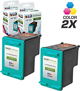 LD Remanufactured Ink Cartridge Replacement for HP 93 C9361WN (Color, 2-Pack)
