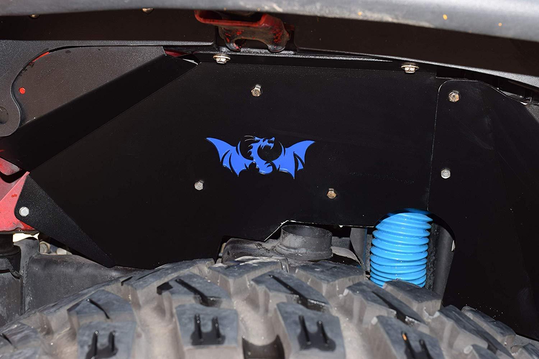Lightweight+Anti-rust】 Right /& Left 4 pcs Front Inner Fender Liners Compatible for J-eep Wrangler 2007-2018 JK JKU Sahara Rubicon Unlimited Sport 2 Door//4 Door 【Drogon