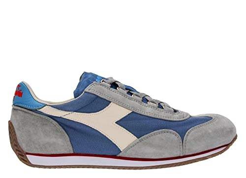 DIADORA scarpe sneaker uomo 201.156988 C6684 equipe stone wash azzurro grigio