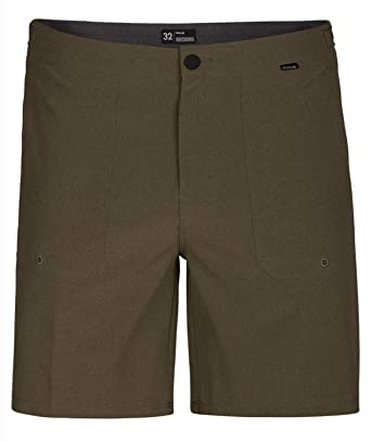 "27b7f70b70 Hurley - Mens Phantom Coastline 18"" Walkshorts, Size: 28, Color: Olive"