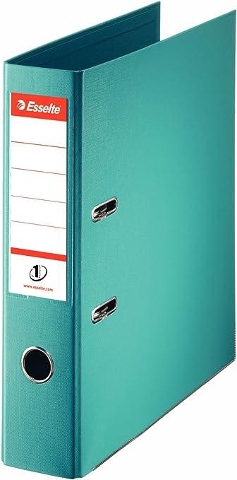 Esselte - Archivador de anillas (tamaño A4, lomo de 75 mm), color turquesa: Amazon.es: Oficina y papelería