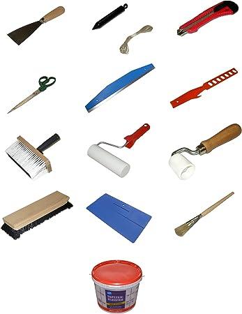 """Bonum Malerwerkzeug Set Nr 8 Thema /""""Tapezieren Ausf/ührung Standard/"""" 14-teilig"""