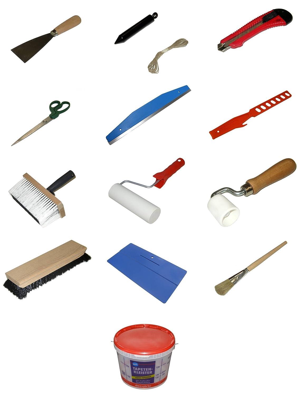"""Bonum Malerwerkzeug Set Nr. 8 Thema """"Tapezieren - Ausführung Standard"""" 14-teilig"""