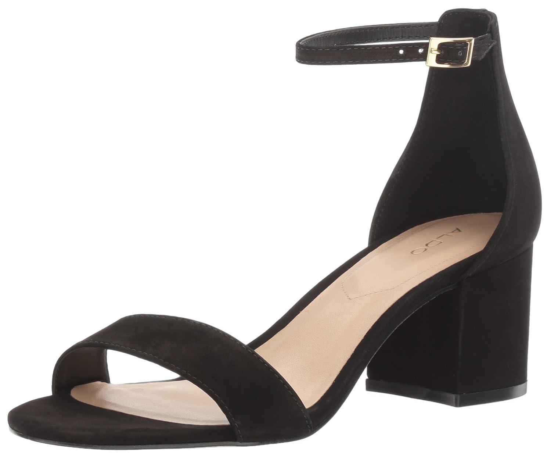 Black Nubuck Aldo Women's Villapink Heeled Sandal