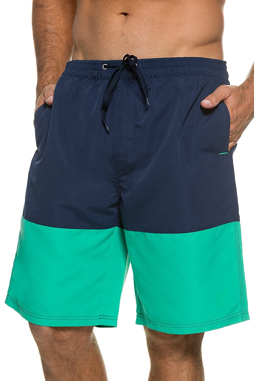 JP1880 Men's Big & Tall Color block Board Shorts Swim Shorts Navy/Green Large 705617 70-L