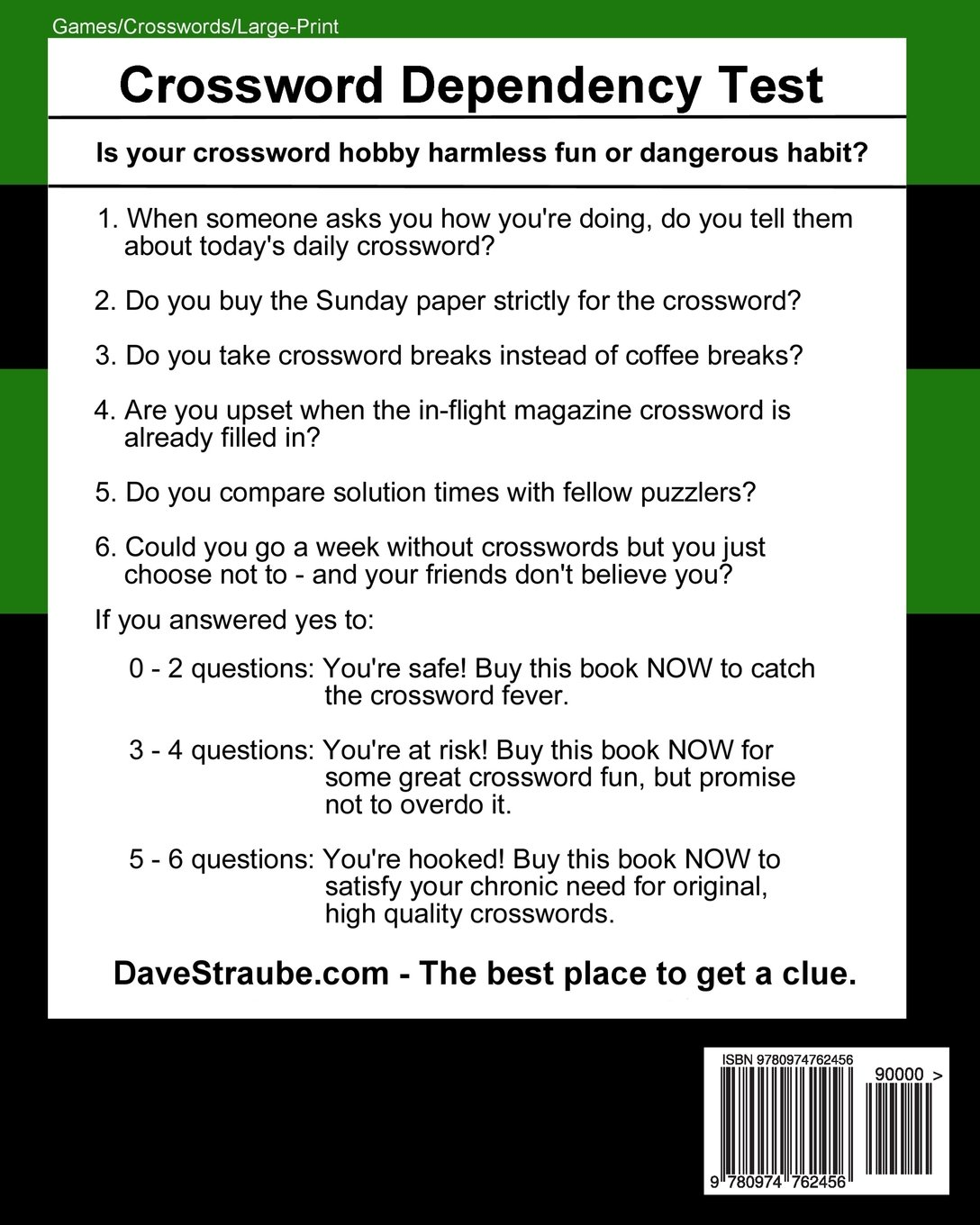 Not Your Typical Large-Print Crosswords #2 - Golf From Tee to Green Dave Straube 9780974762456 Amazon.com Books  sc 1 st  Amazon.com & Not Your Typical Large-Print Crosswords #2 - Golf: From Tee to ... 25forcollege.com