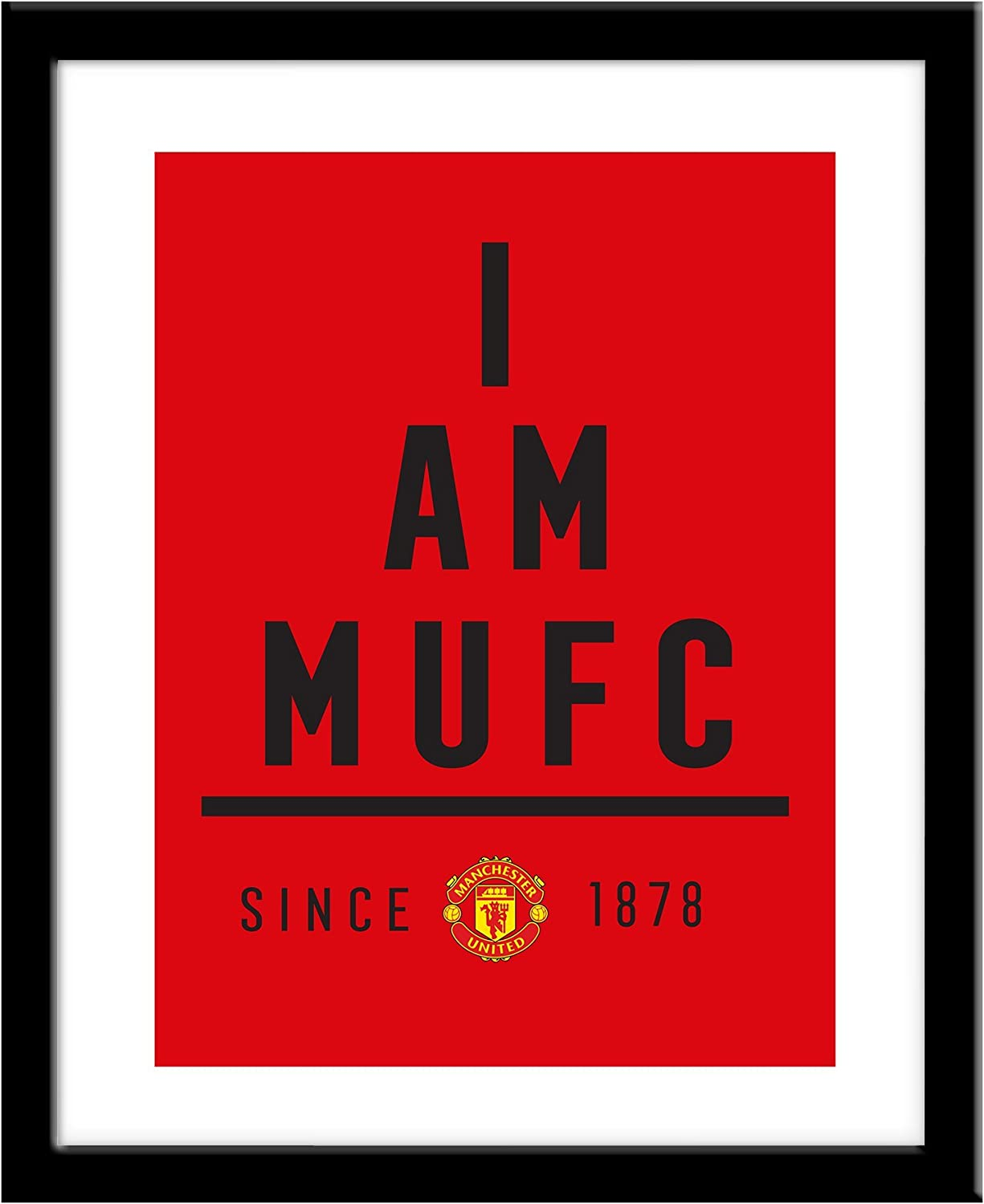 Official Personalised Manchester United FC I Am Print