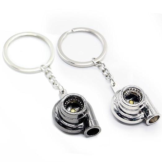 Huele 2pcs Creative AUTO parte modelo Spinning Turbo Llavero ...