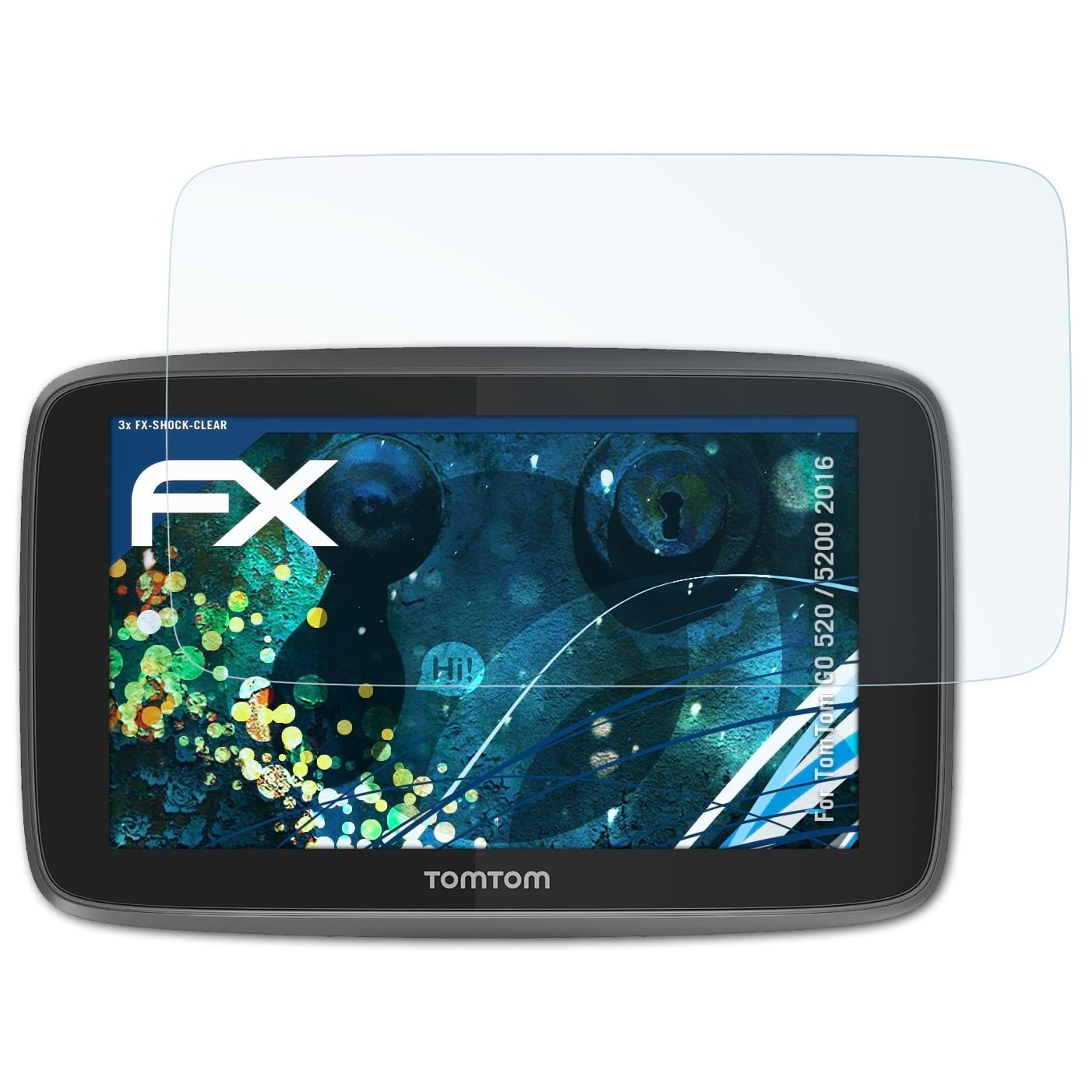 3X atFoliX Anti-Shock Pellicola protettiva per TomTom GO Essential 5 inch Pellicola Proteggi ultra chiara e che assorbe gli urti FX Pellicola Protettiva