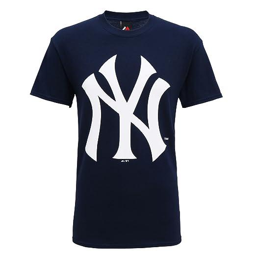 Producto oficiales de deportes americanos - Camiseta de manga corta con el logo New York Yankees hombre caballero (Grande (L)/Gris): Amazon.es: Ropa y ...