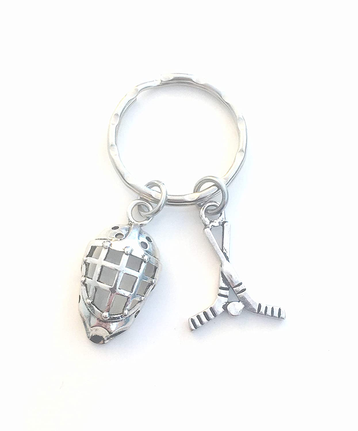 Hockey Goalie Keychain, Gift for Coach or Player's Key Chain