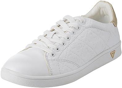 Guess Footwear Active Lady, Baskets Femme, Blanc White, 35 EU ... a6173465309f