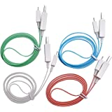 (Lot de 4)Cable USB Lumineux LED Charge & Synchronisation Iphone 5 / 6 Ipad Mini Ipod Touch