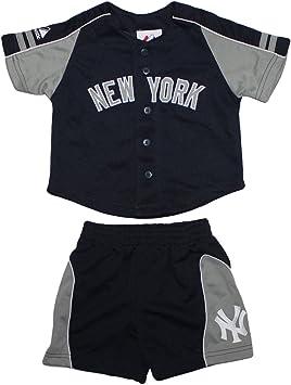 2 piezas conjunto bebé MLB béisbol New York Yankees Camisa y pantalones cortos SET Azul azul oscuro Talla:12M: Amazon.es: Deportes y aire libre