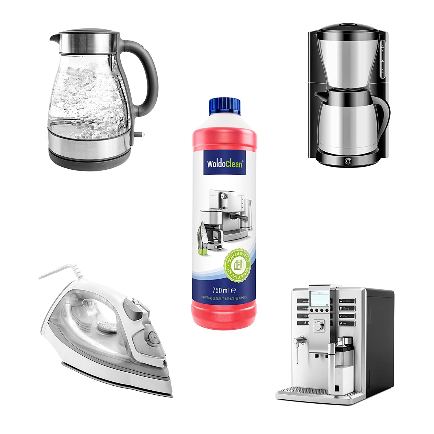 Woldoclean I 750Ml Descaler & Cleaner I For Coffee And