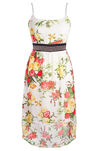 Vestido de cóctel Fiesta Vestido Mullet con flores & Remaches S/M (6 colores