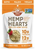 Manitoba Harvest Hemp Hearts Shelf Stable Hemp Seeds, 1lb; with 10g Protein & 12g Omegas per Serving, Keto, Gluten Free…