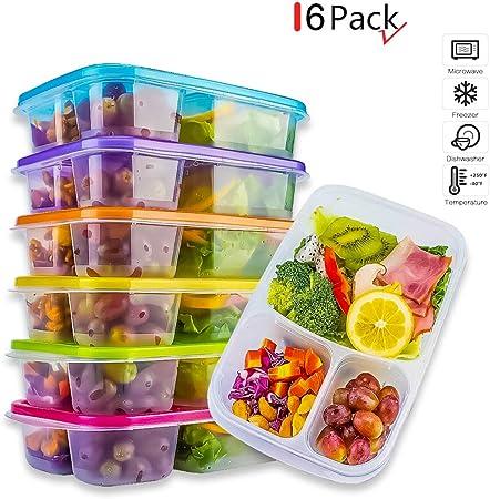 Amazon.com: Bento Lunch Box Meal Prep contenedores ...