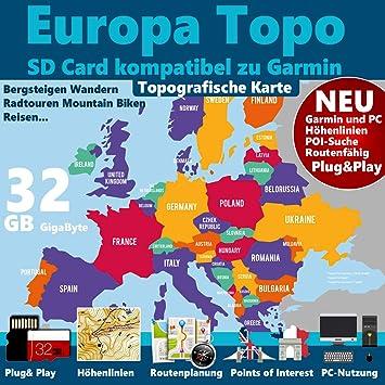 Dakota 20 Garmin CARTE Montana Etrex 20//30 Carte Europe