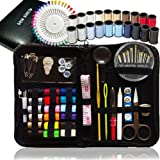 SEWING KIT, Over 120 Premium Sewing Supplies, 38 Spools of Thread - 20 Most Useful Colors of Threads & 18 Multi Colors, Extra 40 quality sewing pins-Mini Travel, Summer camp, kids, Beginners,Emergency