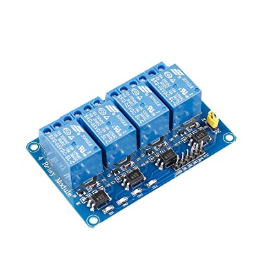 SunFounder 4 Channel 5V Relay Shield Module for Arduino R3 MEGA 2560 1280 DSP ARM PIC AVR STM32 Raspberry Pi: Industrial & Scientific