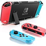 Dockable Clear Case for Nintendo Switch, FANPL Protective Case Cover for Nintendo Switch and Joy Con Controller- Crystal Clea