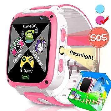 Smartwatch for Kids-TURNMEON Juego Infantil Reloj Inteligente para niñas Niños Niños Regalos de cumpleaños de Navidad con Llamadas SOS Juguetes ...