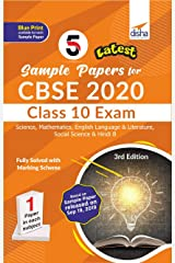 5 Latest Sample Papers for CBSE 2020 Class 10 Exam - Science, Mathematicss, English Language & Literature, Social Science & Hindi B - 3rd Edition Paperback