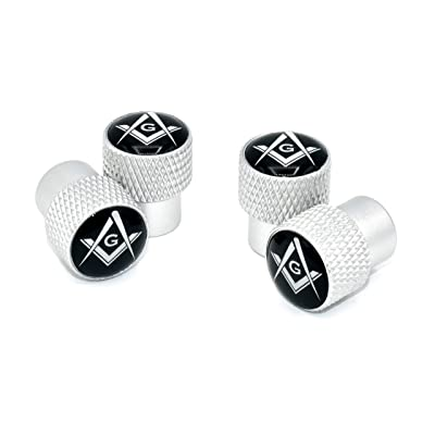 Elektroplate Mason Universal Valve Stem Caps - Matte Chrome Knurling: Automotive