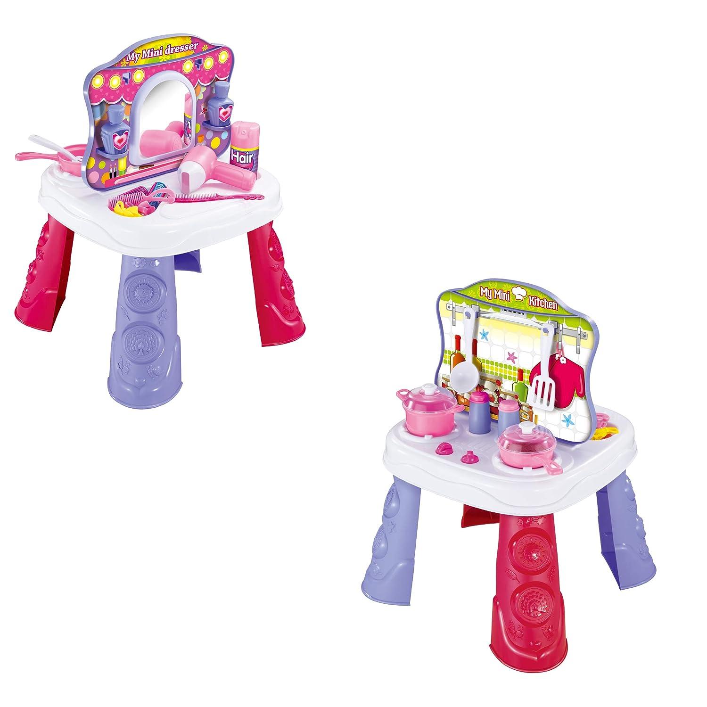 Toy Chef 2 in 1 キッチン/メイクアップセット   B07GJF91LQ