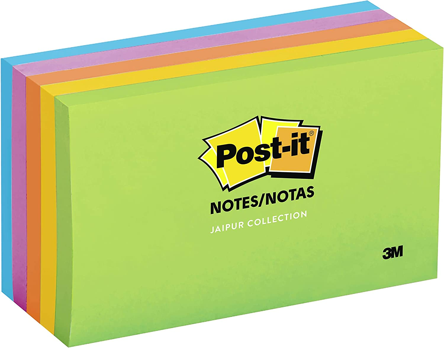 10 colors to choose from Large Dot Pattern Sticky Notes Book 3x5