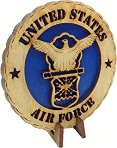 """Armed Forces Air Force Military Decorative Laser Three Dimensional Wooden Desk Plaque 4"""""""