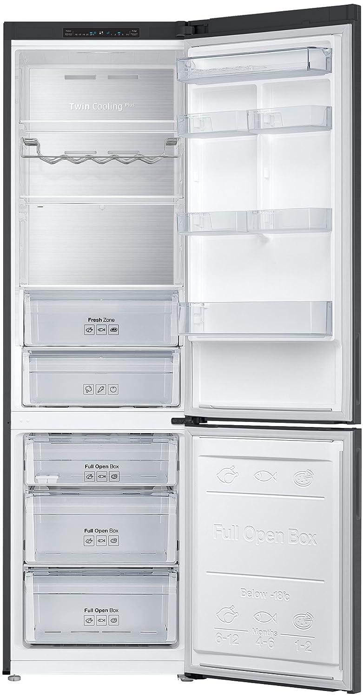 Samsung RL37J5049B1/EG nevera y congelador Independiente Negro, Acero inoxidable 326 L A+++ - Frigorífico (326 L, SN-T, 13 kg/24h, A+++, Compartimiento de ...