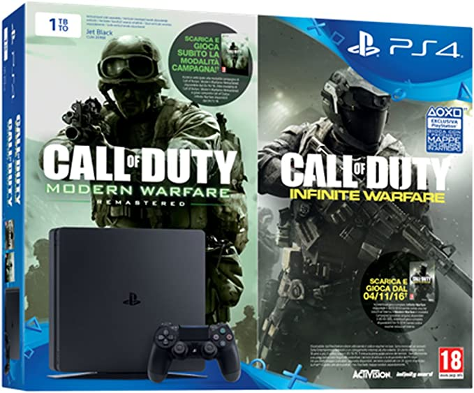 Sony PS4 1TB chassis D + COD: IW Legacy Ed VCH Negro 1000 GB Wifi ...
