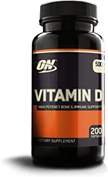 200 Ct Optimum Nutrition Vitamin D Soft Gels, 5000 Iu