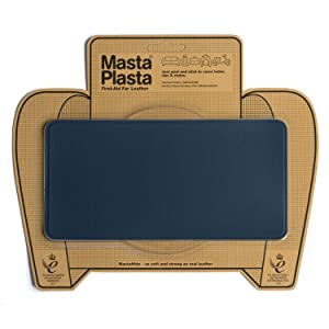 MastaPlasta Self-Adhesive Patch for Leather and Vinyl Repair, Large, Navy - 8 x 4 Inch