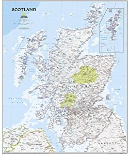 National Geographic Scotland Executive Wall Map 30 X 36 Inches