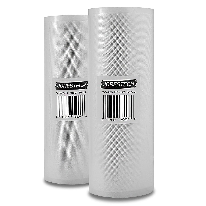 JORESTECH TWO GIANT Rolls Vacuum Sealer Food Storage Bags! (11X50) Technopack Corporation C-VAC