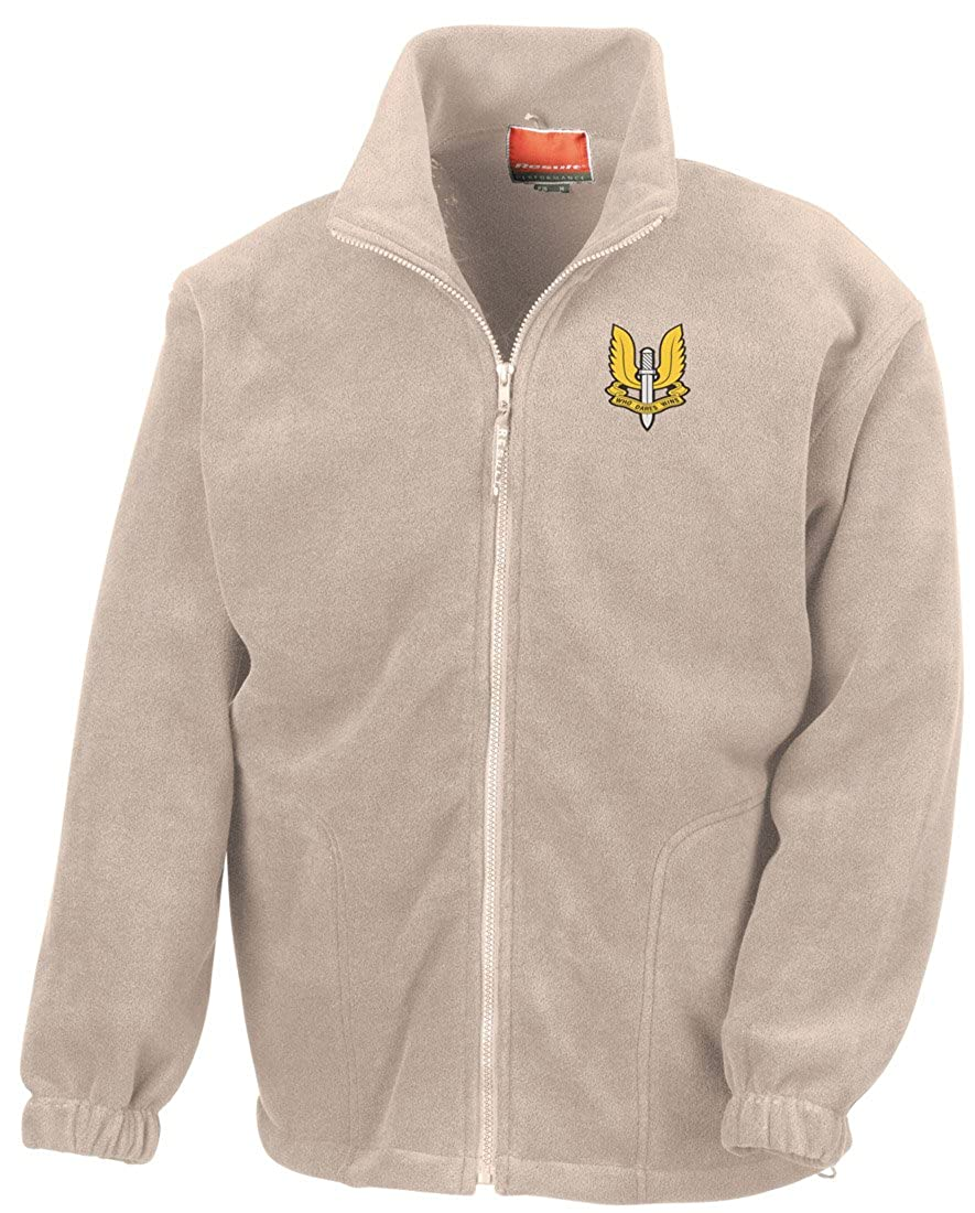 Special Air Service SAS Embroidered Logo Official Full Zip Fleece By Military Online