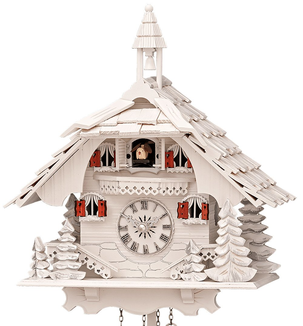 Quartz Cuckoo Clock Black forest house with music Engstler