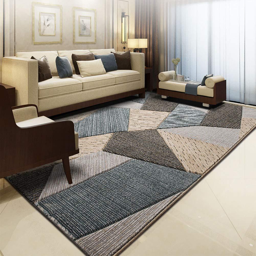 絶妙なコテージの装飾コレクション|リビングルームベッドルーム用エリアラグ|グレー黒白現代抽象的な現代のパターン耐久性のあるカーペットホーム|サイズ - 200 x 290 cm(6ft7 x 9ft6) 1.6*2.3m B B07J4K5QTT
