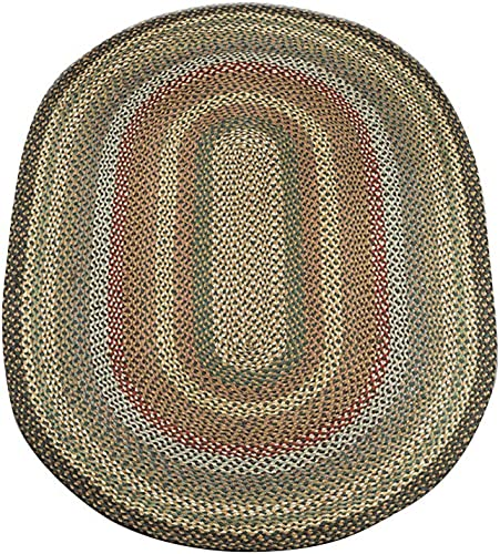 Capitol Earth Rugs 06-051 Fir-Ivory Jute Braided Rug
