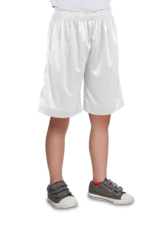 North 15 Boy's Printed Basketball Long Mesh Shorts with Side Pockets (8-18)