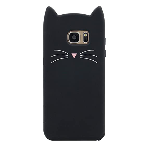 official photos ed1e0 08078 Galaxy S7 Edge Case, MC Fashion Cute 3D Black Meow Party Cat Ears Kitty  Whiskers Soft Silicone Case for Samsung Galaxy S7 Edge (Cat Whisker/Black)