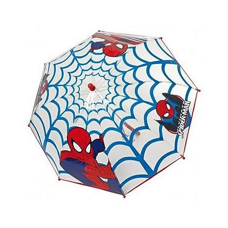 Paraguas manual burbuja transparente Spiderman Marvel Ultimate telarañas 42cm