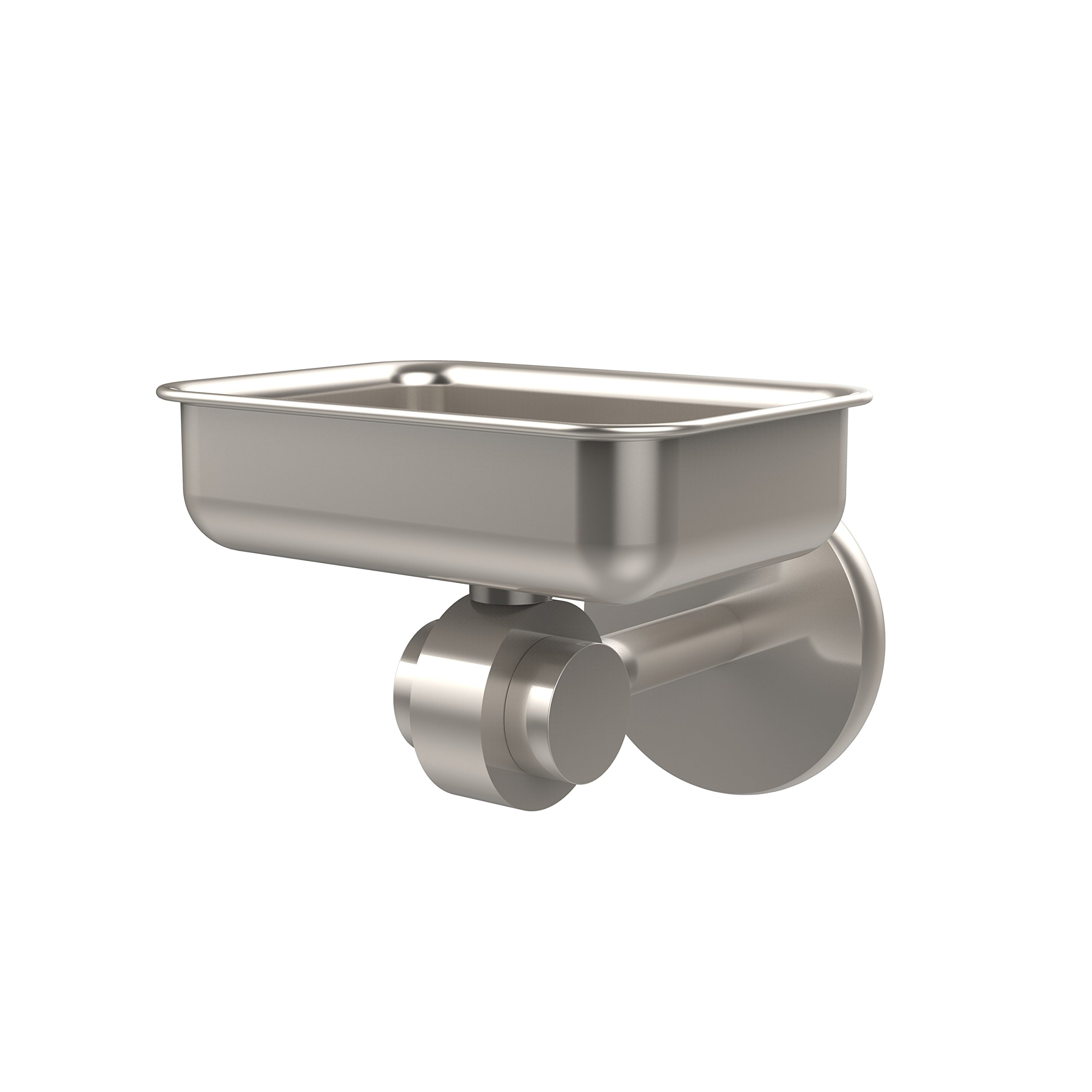 Allied Brass 7232-SN Satellite Orbit Two Collection Wall Mounted Soap Dish, Satin Nickel